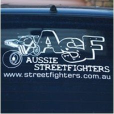 ASF Rear Window Car Sticker (decal)